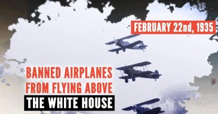 Roosevelt Bans Planes Over White House