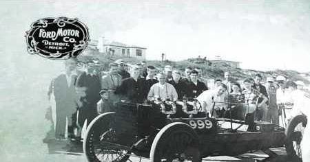 Henry Ford Sets Speed Record